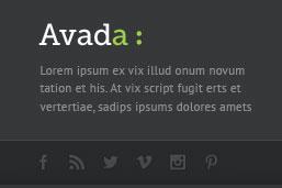 Avada Footer